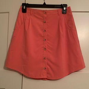 Classy Button-Down Pink Skirt